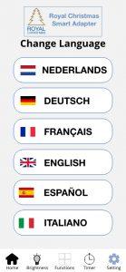 Language in app